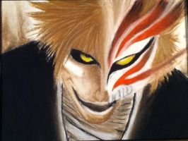 Bleach - Ichigo Hallow Mask by Jenny-Draw