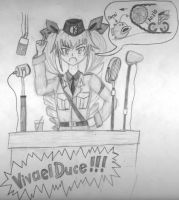 Duce's fire up speech. by dmitry-medic