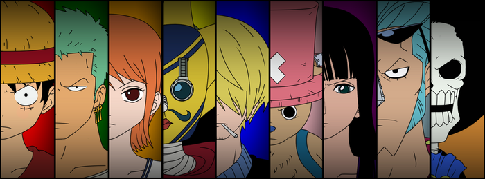 Straw Hat Pirates - Alt Version (Pre-Timeskip) by MizuriArt