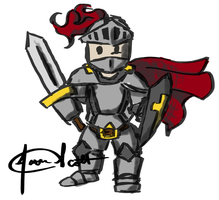 Doodle Knight by CaptScott