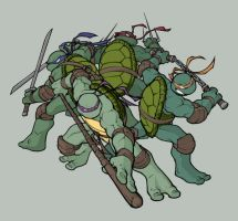 Colours: TMNT by wrightauk