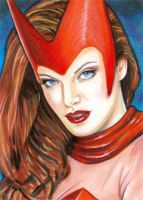 Sketch 4 - Scarlet Witch by veripwolf