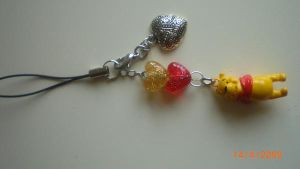 Winnie the Pooh Phone Charm by jo132000