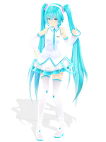 white miku desu by blockdt