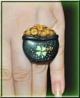 Pot of Gold Ring by MadamLuck