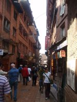 Streets of Bhaktapur 02 by Woolfred