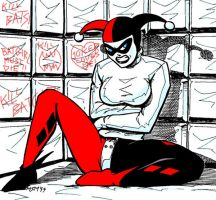 Harley Quinn in Asylum by RedSpider2008