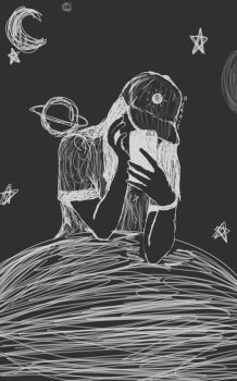 aesthetic space doodle by beaniebabyy