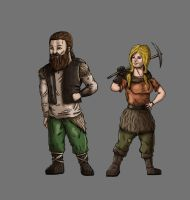 Dwarf Commoners by Kaloith
