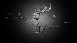 The banner of house Baratheon by mrminutuslausus