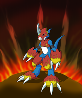 Flamedramon. by Razor-Zyrak