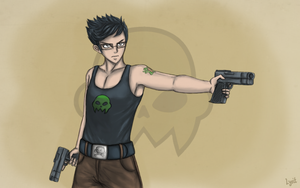 Jake and his sexy guns by LyritEmbrium
