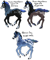 Rainbow/Abyss x Borealis Foals by gyngercookie