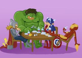 The Avengers: Foods by lazy-perfs