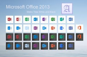 Office 2013 Black and White by dtafalonso