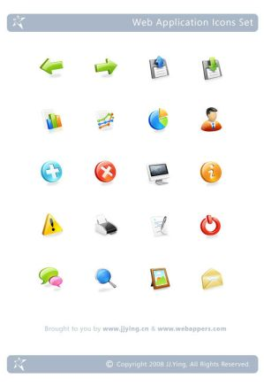 Web Application Icons Set by yingjunjiu