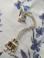 Geeky Robot Lovers Pendant by emmadreamstar