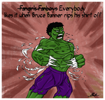 Everybody likes the Hulk by caycowa