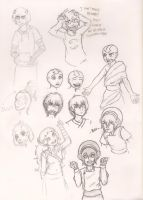 Baby's First Sketchdump by TehHuckleBerry
