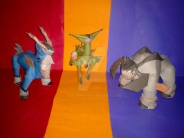 Pokemon Swords of Justice papercraft (+ downlad) by javierini