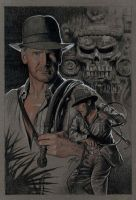 Indiana Jones KotCS drawing by GabeFarber