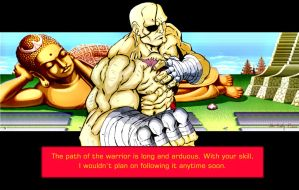 Sagat Win Quote by ShaneLongshadow
