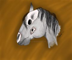 If Death was a Pale Grey Horse... by LilWolfStudios