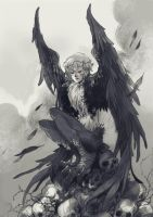 Black Harpie by sanoe