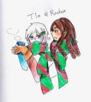 Tia and Rocket by rasuin
