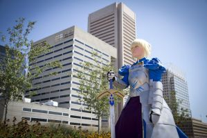 Saber Cosplay: Looking for the Enemy by HatterSisters