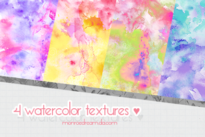 Watercolor textures pack #001 by monroedream