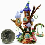 WOODLAND FAIRY TREE SWING by WEE-OOAK-MINIATURES