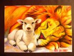 The Lion and The Lamb by Snipermander