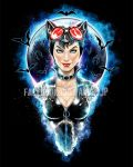 Catwoman - Meow at the Moon by jpzilla