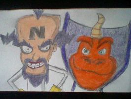 Neo Cortex and Ripto by BubbliciousAirheads