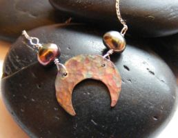 Petite Moon Necklace by MoonLitCreations