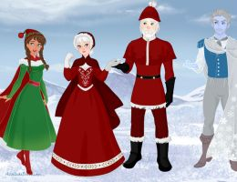 Santa Clause and friends by amanmangor