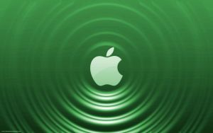 Green Apple - Ripple Effect by Seans-Photography