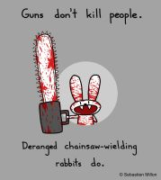 Chainsaw Rabbit by sebreg