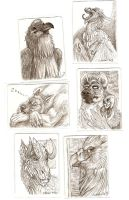 Magic: the Gathering Artist Proof sketches, 4 by caramitten