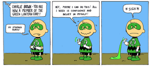 What if...Charlie Brown was made Green Lantern? by Nick-Perks