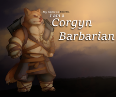 Commission - Ezreth the Corgyn Barbarian by Kirrw