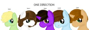 One Direction Ponyfied... by sketchypony123
