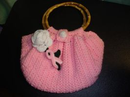 Pink Purse by Crochet-by-Clarissa