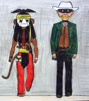 The Lone Ranger And Tonto by ask-kevlron