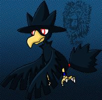 Lassiter, my Murkrow by TheDocRoach