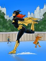 Batgirl Skate Party by gypsygirlpress