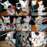 Bolt Plush Collage by BoltCutie