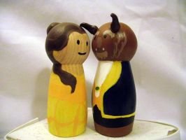 Beauty and the Beast Cake toppers by Usagi-CRI