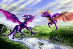 Spyro Dotd Art(valley of avalar.) by zilvart